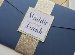 pocketfold invitations blue and gold wedding invitations fresh chagne and navy wedding