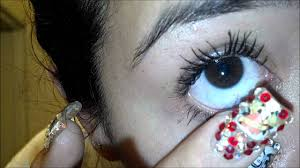 remove and place contacts with long nails youtube