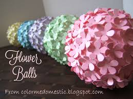 Flower Balls Color Me Domestic Paper Punched Flower Balls