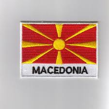 Best Country Flags Embroidered Patches Country Flag Macedonia Patches Iron On Badges
