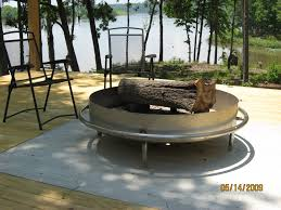 fire pit wood deck outdoor custom metal fire pit with patio iron chairs and wooden