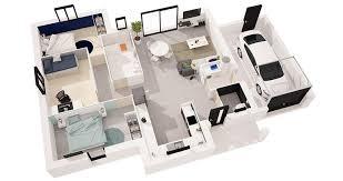 chambre en 3d plan 3d maison maison m u top maison plan with plan 3d maison free