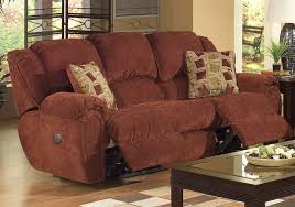 Red Recliner Sofa Conrad Power Reclining Sofa In Chianti Color Chenille Fabric By