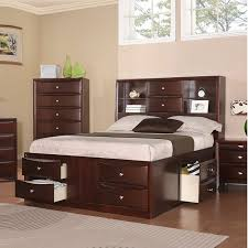 Queen Headboard Bookcase Awesome Bookcase Headboard Captains Bed Queen With 8 Drawer
