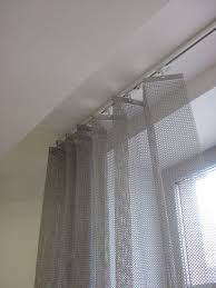 plain curtain metal stainless steel chainmail le labo design