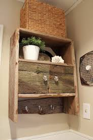 Barnwood Wall Shelves Diy Barnwood Bathroom Cabinet The Creek Line House