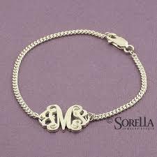 sterling silver monogram bracelet handmade personalized script monogram bracelet in sterling silver