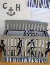 grey and navy crib bedding grey crib bedding pinterest