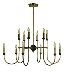 Black Chandelier Lamps Framburg 4798ab Mblack Nicole 12 Light 30 Inch Antique Brass With