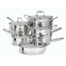 cuisine paderno 11 stainless steel cookware set paderno