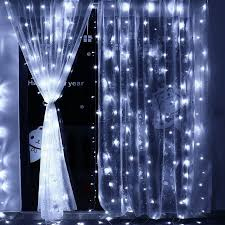 curtain string lights 306 led waterproof safe low voltage dc