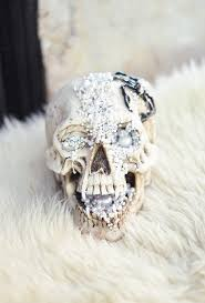 Skull Decor Diy Creepy Jeweled Halloween Skull Pirate U0027s Treasure Edition