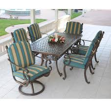 Rectangle Patio Dining Table Cast Aluminum 84 Inch Rectangle Patio Table Set