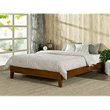 amazon com murray platform bed with wooden box frame mahogany