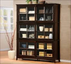 Tall Dark Wood Bookcase Tall Narrow Bookcase With Doors Home Design Ideas