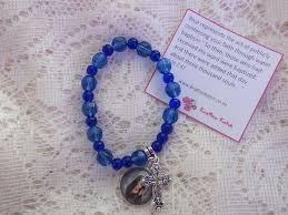 blue bead bracelet images Blue rosary bead bracelet jpeg