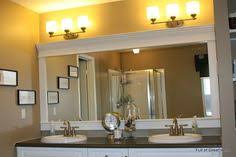 Mirror Trim For Bathroom Mirrors Inexpensive And Easy Way To Upgrade Your Plain Bathroom Mirror
