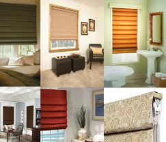 different kinds of roman shades