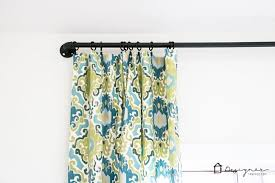 Turquoise Curtain Rod Diy Pipe Curtain Rod Pottery Barn Inspired Designer Trapped