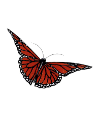 simple monarch butterfly tattoo free design ideas