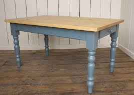 Top Kitchen Table With Turned Legs And Drawer - Kitchen table with drawer