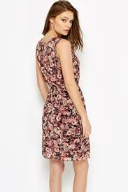 sleeveless dress pleated floral skater sleeveless dress just 5