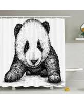 check out these bargains on animal shower curtain set panda bear