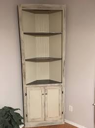 antique white corner cabinet ana white distressed antique white corner cabinet diy projects