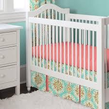 Crib Bedding Uk Nursery Beddings Coral And Aqua Crib Bedding Together With Coral