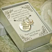 Wedding Gift For Sister Sister Of The Groom Necklace Sil Sister In Law Necklace