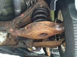 nissan armada rear shocks 2004 rusted rear sub frame nissan armada forum armada