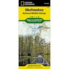 Okefenokee Swamp Map 795 Okefenokee National Wildlife Refuge Trail Map National