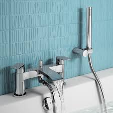 Bath Shower Fittings Nelas Bath Shower Mixer Tap With Hand Held Head Soak Com Loversiq