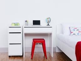 bedrooms small white desk computer desk for small spaces room