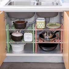 sink kitchen cabinet organizer extendible kitchen rack sink storage rack shelf cooker pot pan holder cabinet organizer kitchen organizer