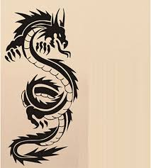 beautiful dragon wall decals easy apply and remove large animal chinese dragon wall decal sticker the living room background kid stickers vinyl removable black color