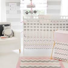 Gray And Pink Crib Bedding Chevron Baby In Pink Crib Bedding Set Chevron Print Nursery
