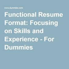 Resume Functional Skills 15 Best Creating A Functional Resume Images On Pinterest