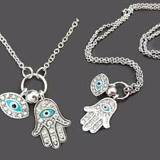 eye charm necklace images Kabbalah hand of fatima hamsa evil eye charm necklace wear with love jpg