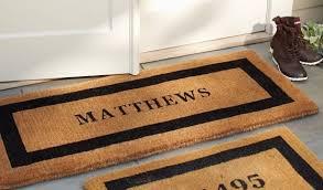 Interior Door Mats Tremendeous Personalized Front Door Mat Home And Interior Home