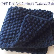 shop knitting pattern for baby blanket on wanelo