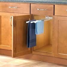 kitchen cabinet towel rack kitchen cabinet towel bar pizzle me