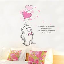 stickers animaux chambre b amour ours ballon bébé chambre stickers muraux nursery stickers