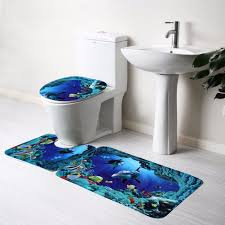 bathroom accessories 3pcs bathroom non slip bathroom carpet blue