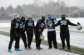 Carolina Panthers Flags Nfl U0027s Carolina Panthers Ready For Sunday Despite Snow Fortune