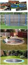 backyards superb safe and cool a sunken trampoline for kids 45