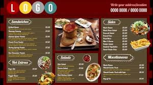 fast food digital signage menu board design from dsmenu