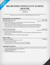 How To Write A Dance Resume Resume Example 57 Recruiter Resume Sample Recruiter Resume Sample