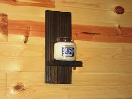 Yankee Candle Wall Sconce Rustic Wall Sconce Candle Holder Candle Sconce
