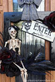 halloween wreath from a cabinet door hometalk